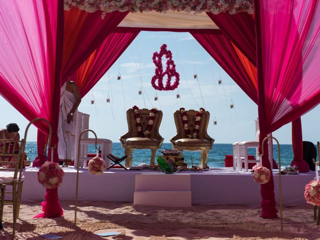 Rikesh and Pooja's Wedding in Cancun, Mexico 34