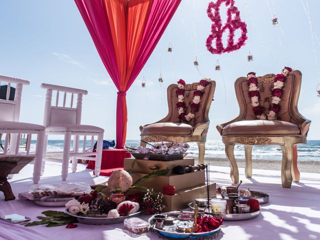 Rikesh and Pooja's Wedding in Cancun, Mexico 35