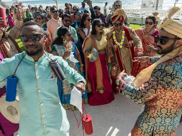 Rikesh and Pooja's Wedding in Cancun, Mexico 37
