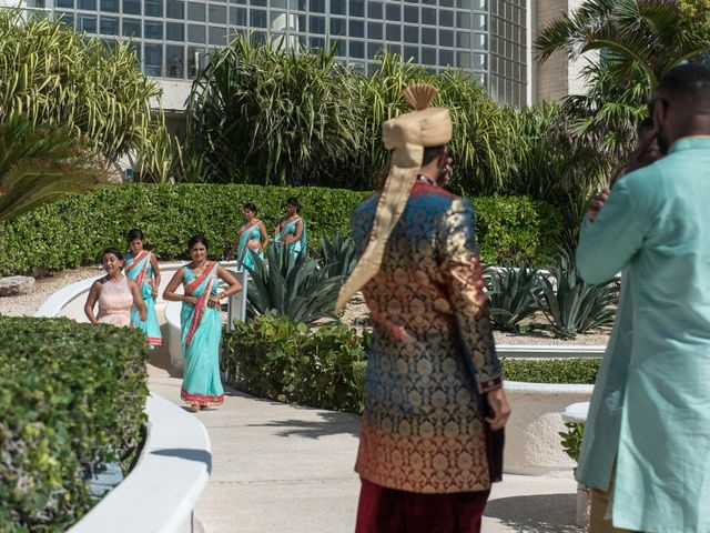 Rikesh and Pooja's Wedding in Cancun, Mexico 43