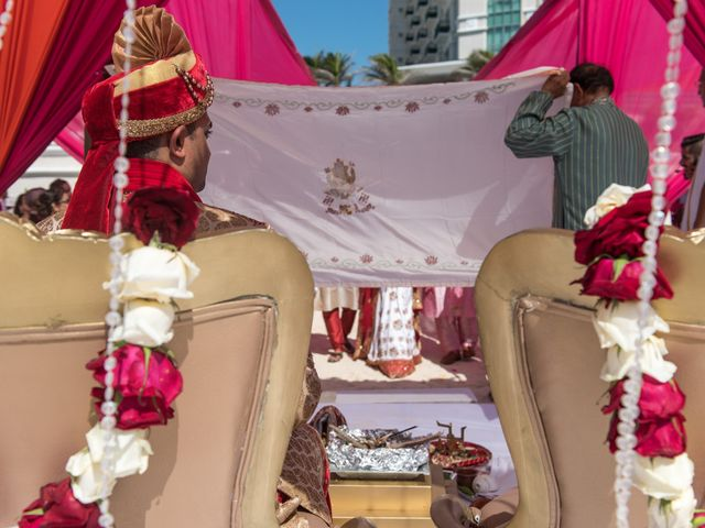 Rikesh and Pooja's Wedding in Cancun, Mexico 45
