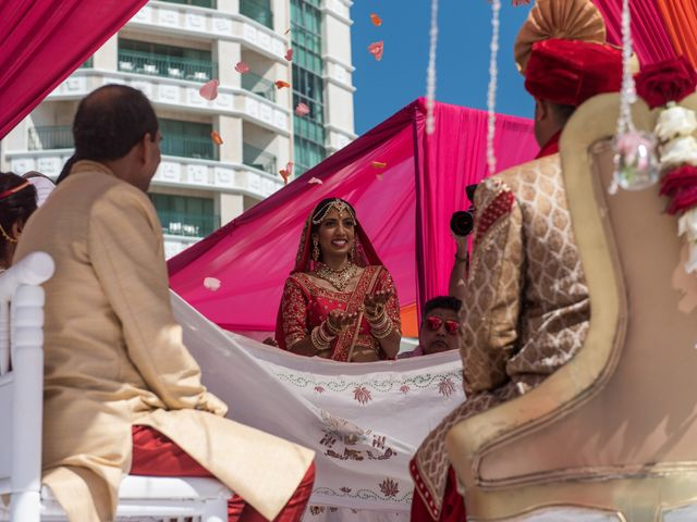 Rikesh and Pooja's Wedding in Cancun, Mexico 46