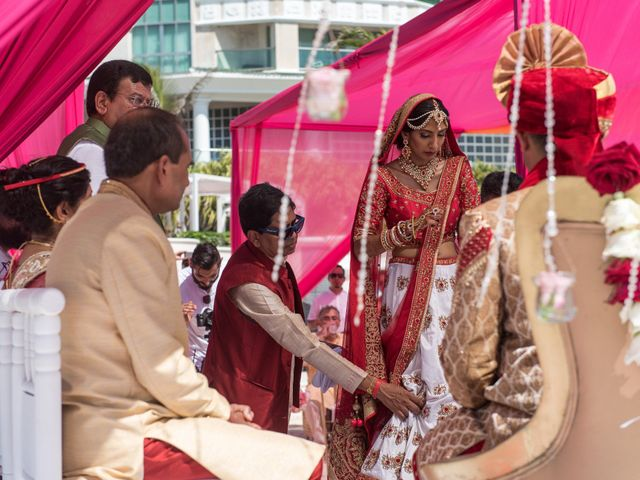 Rikesh and Pooja's Wedding in Cancun, Mexico 47