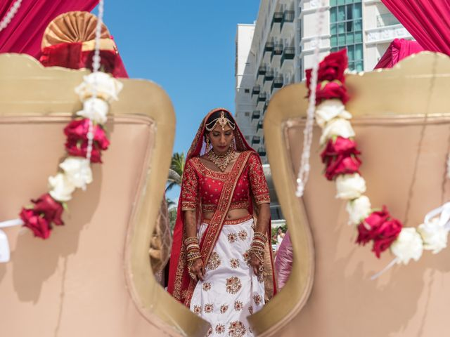 Rikesh and Pooja's Wedding in Cancun, Mexico 48
