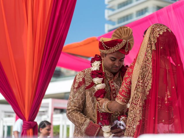 Rikesh and Pooja's Wedding in Cancun, Mexico 50