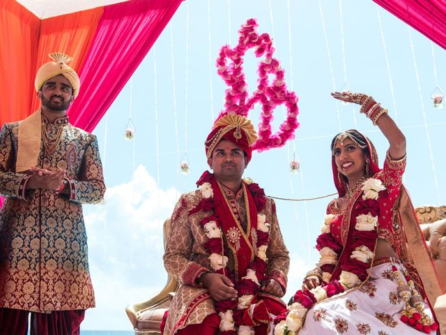 Rikesh and Pooja's Wedding in Cancun, Mexico 53