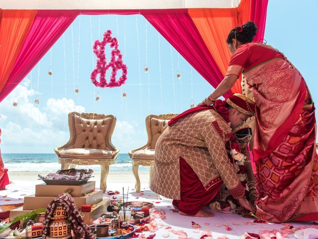 Rikesh and Pooja's Wedding in Cancun, Mexico 54