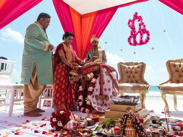 Rikesh and Pooja's Wedding in Cancun, Mexico 55