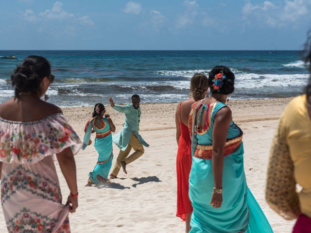 Rikesh and Pooja's Wedding in Cancun, Mexico 56