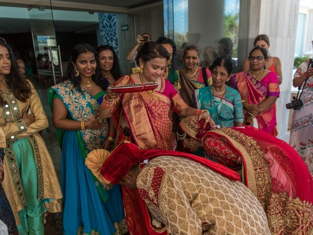 Rikesh and Pooja's Wedding in Cancun, Mexico 62