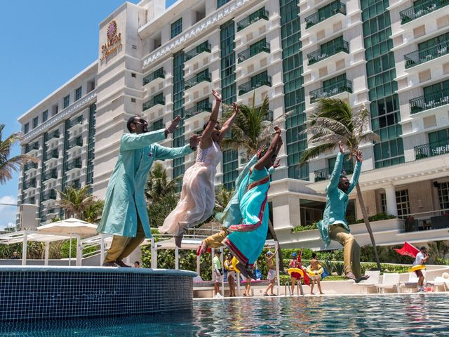 Rikesh and Pooja's Wedding in Cancun, Mexico 63