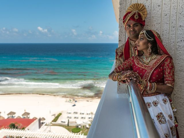 Rikesh and Pooja's Wedding in Cancun, Mexico 66