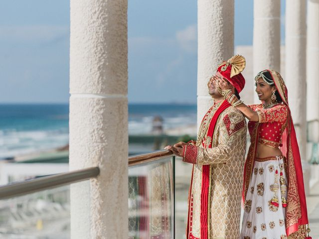 Rikesh and Pooja's Wedding in Cancun, Mexico 167