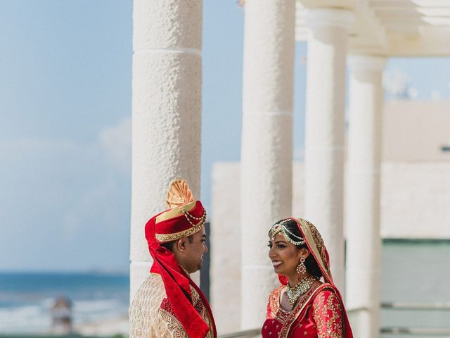 Rikesh and Pooja's Wedding in Cancun, Mexico 168