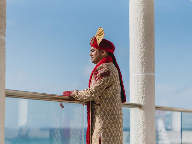 Rikesh and Pooja's Wedding in Cancun, Mexico 170