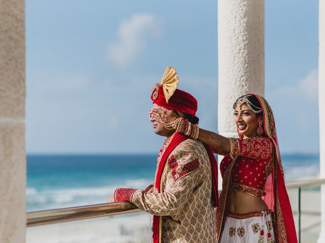 Rikesh and Pooja's Wedding in Cancun, Mexico 171