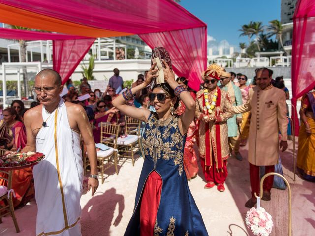 Rikesh and Pooja's Wedding in Cancun, Mexico 217