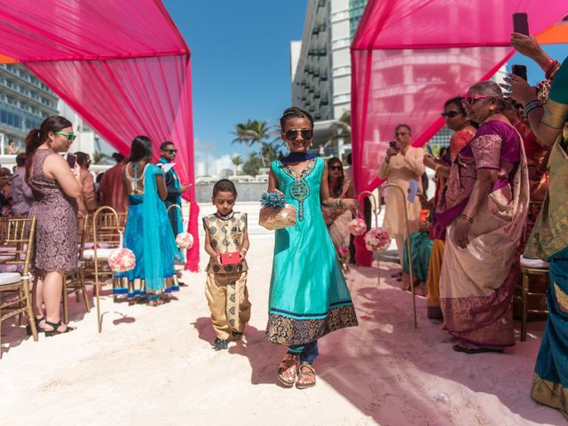 Rikesh and Pooja's Wedding in Cancun, Mexico 226