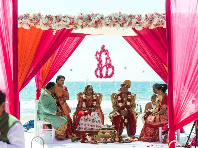 Rikesh and Pooja's Wedding in Cancun, Mexico 240