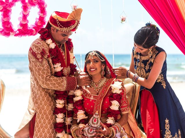 Rikesh and Pooja's Wedding in Cancun, Mexico 244