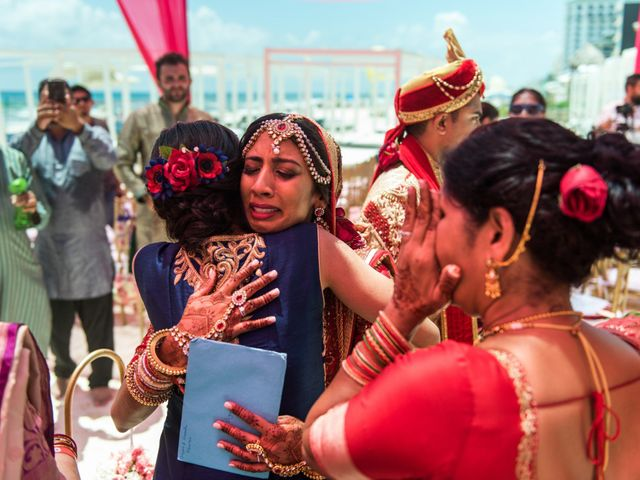Rikesh and Pooja's Wedding in Cancun, Mexico 253