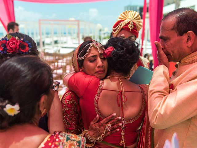 Rikesh and Pooja's Wedding in Cancun, Mexico 254