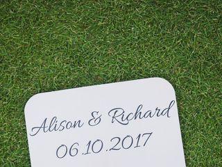 The wedding of Richard and Alison 1