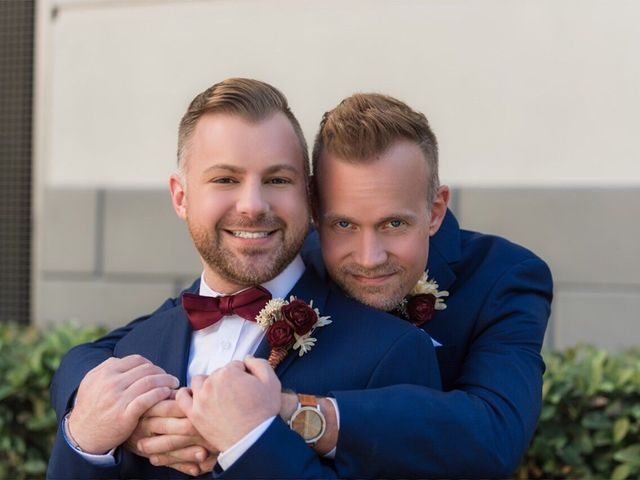The wedding of Brian and Jason