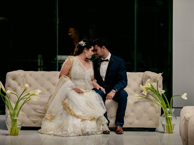 The wedding of Vijay and Marlene