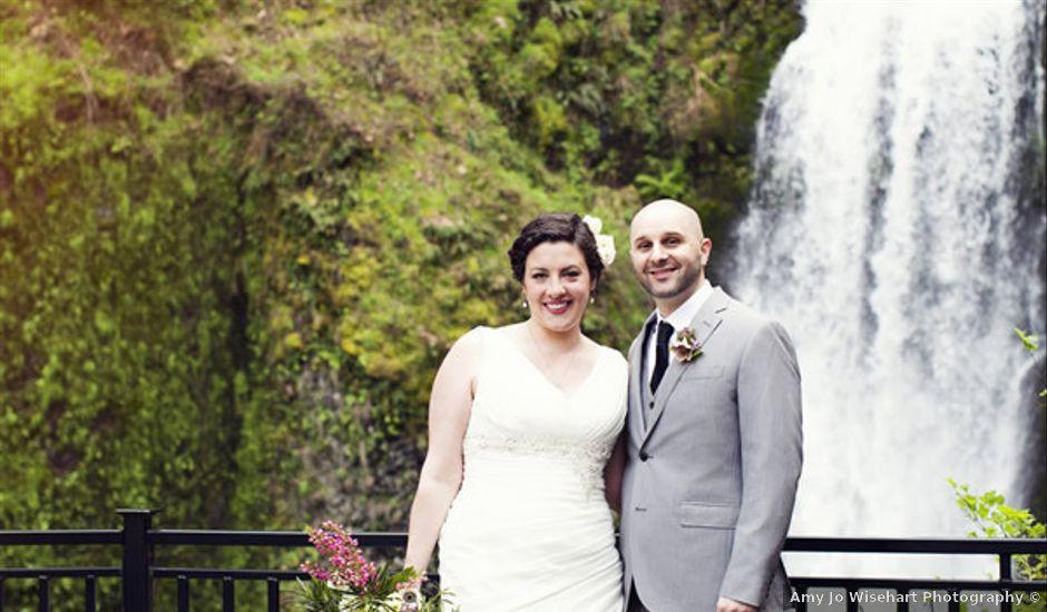 Real Weddings Weddingwire: Scenic Oregon Waterfall Wedding , Wedding Real Weddings