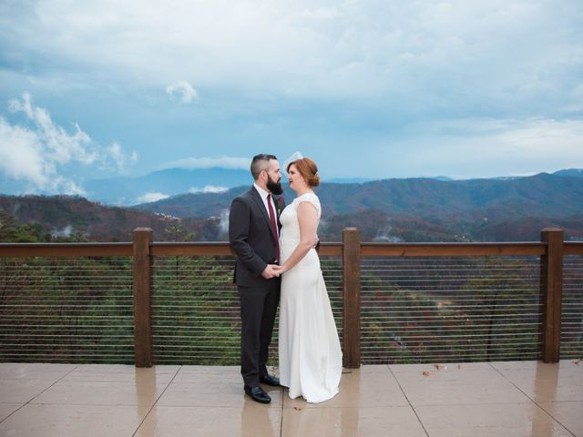 Shawn and Brittany's Wedding in Pigeon Forge, Tennessee 42