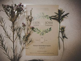 The wedding of Erin and Josh 1