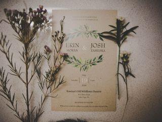 The wedding of Erin and Josh 1