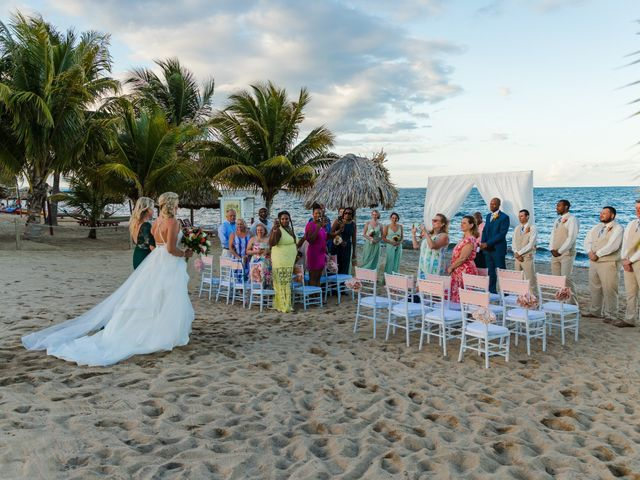 Brittany and Jamaal's Wedding in Hopkins, Belize 21