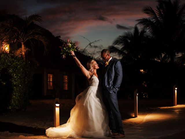 Brittany and Jamaal's Wedding in Hopkins, Belize 34