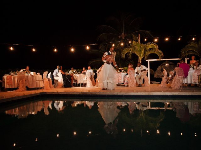 Brittany and Jamaal's Wedding in Hopkins, Belize 40