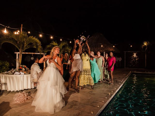 Brittany and Jamaal's Wedding in Hopkins, Belize 45