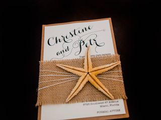 The wedding of Christine and Petr 1