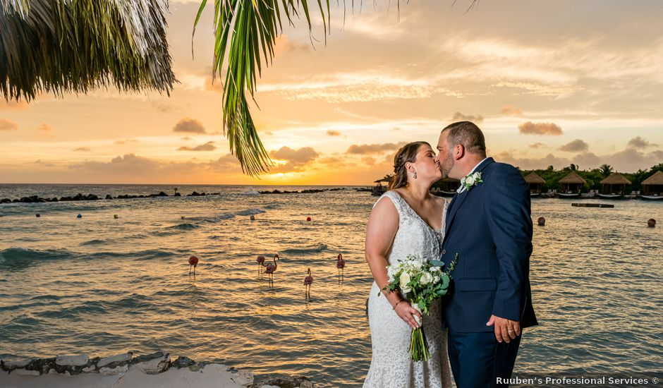 Darren and Megan's Wedding in Oranjestad, Aruba