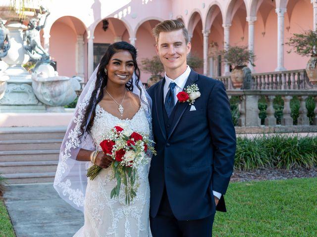 The wedding of Aaron and Sarala