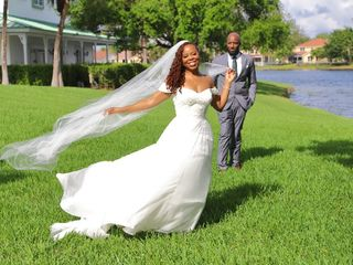 The wedding of Tanya and Shomari