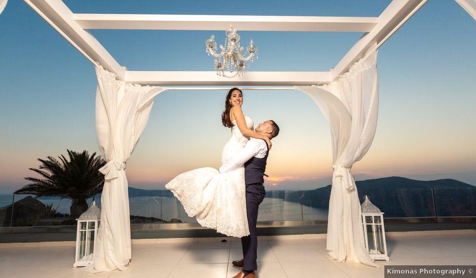 Ian and Jennifer's Wedding in Santorini, Greece