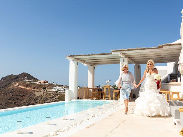 Craig and Angela's Wedding in Santorini, Greece 11