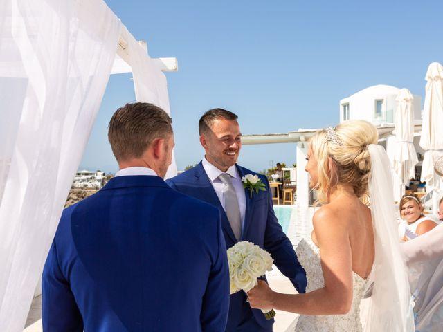 Craig and Angela's Wedding in Santorini, Greece 12