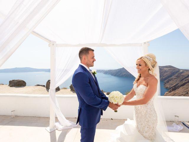 Craig and Angela's Wedding in Santorini, Greece 14
