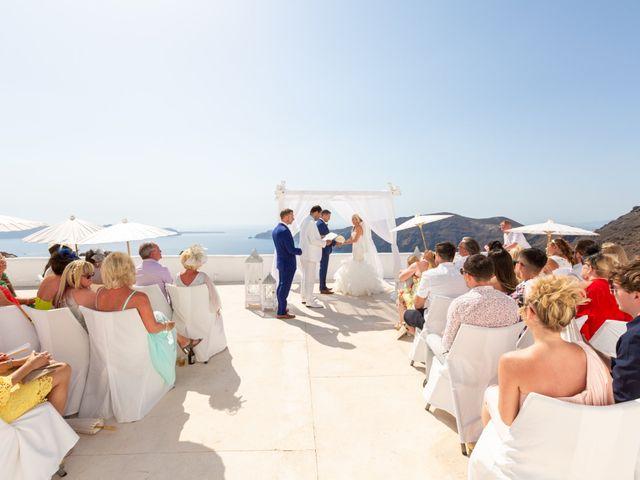 Craig and Angela's Wedding in Santorini, Greece 15