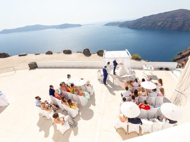 Craig and Angela's Wedding in Santorini, Greece 16
