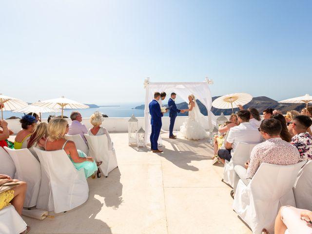 Craig and Angela's Wedding in Santorini, Greece 20