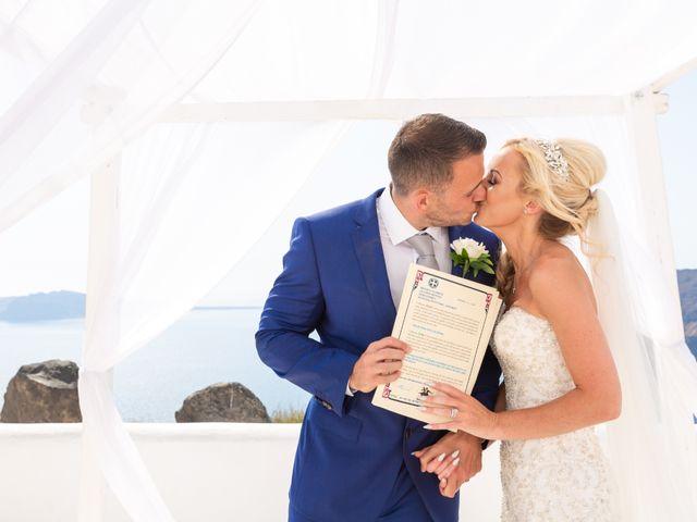 Craig and Angela's Wedding in Santorini, Greece 22