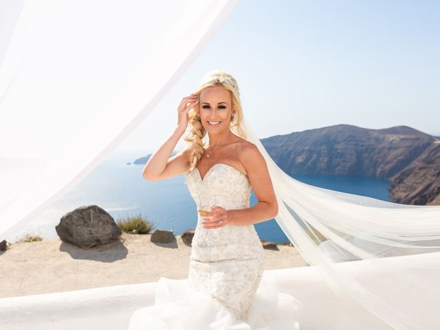 Craig and Angela's Wedding in Santorini, Greece 28